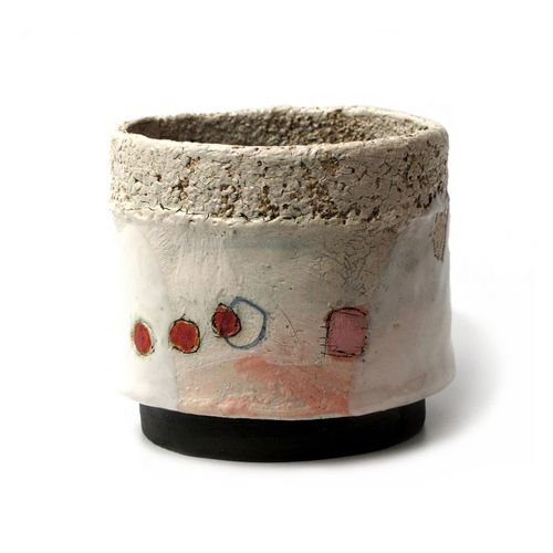 Small Ceramic  Slab Built Pot