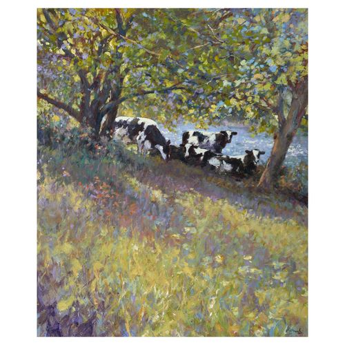On the Bank - Image size 60x50cm - Framed price £2,950.00
