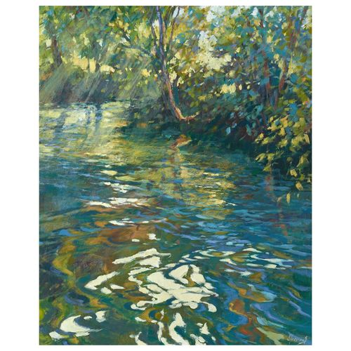 The River Turns - Image size 50x40cm - Framed price £2,250.00