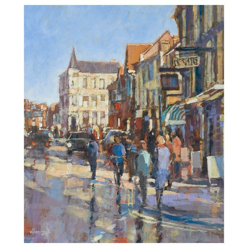 High Street - Image size 35x30cm - Framed price £1,300.00