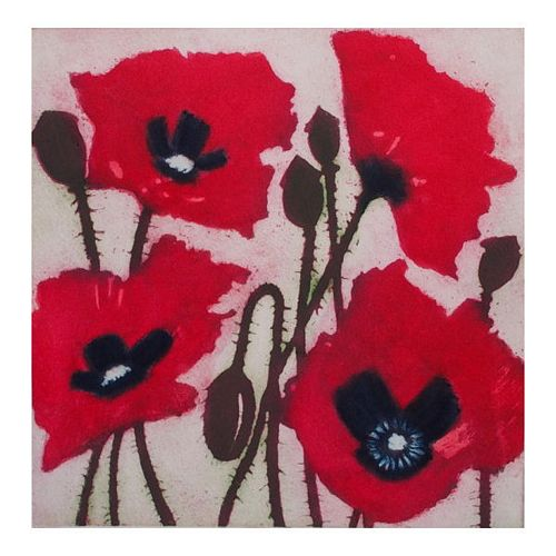 Pink Field Poppies   1/150   Framed