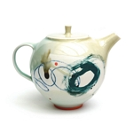 2 Cup Teapot Green Abstract