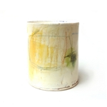 Thrown Vessel with Yellow