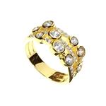 Ring Boodled CZ Gold Vermeil