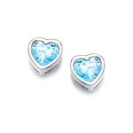 Earrings Tiny Blue CZ