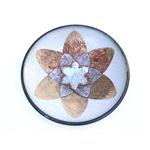 Tiny White/Gold Crystaline Bowl
