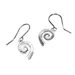 Medium Drop Spiral Earrings