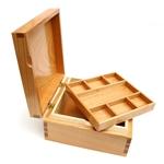 Jewellery Box English Cherry/Rippled Sycamore