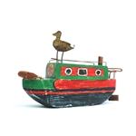 Narrow Boat with Duck - Green