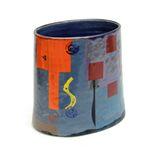 Medium Blue Funnel Pot