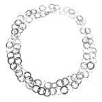 Necklace Hammered Circles