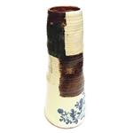 Large Blue & White Cylinder