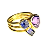 Amethyst, Tanzanite and Iolite Ring