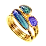 Ring -Tanzanite, Blue Topaz and Tourmaline