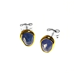 Earrings with Tanzanite