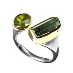 Ring Tourmaline, Peridot