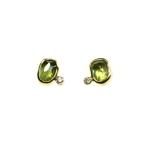 Earrings, 2ct Peridot, 0.04 ct Diamond