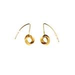 2 Interlinked Band Earrings