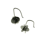 Small Drop Round Vane Earrings