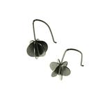 Small Drop Round Vane Earrings