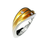 Dual Ring with Diamonds, 22ct Gold