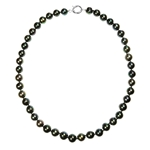 N/L Black FW Pearl, Sil Spring Clasp