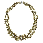 Necklace Khaki Keishi Pearl, Silver Clasp