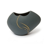 Black with yellow inlay Pot