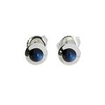 Blue Moonstone Stud Earrings