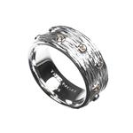 Multi White Topaz Silver Ring