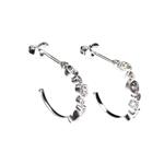 Earrings Half Hoop with CZ