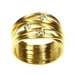 Ring Multi Band 3 Diamonds
